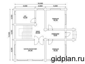 Планировка дома 10х10 - статья