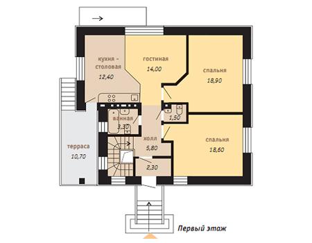 планировка 1 этажа дома