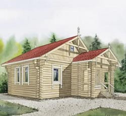 Дачный домик 7х7 и его оформление