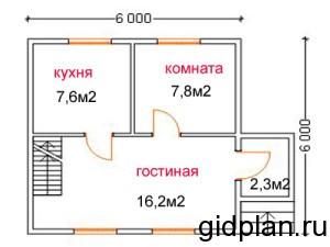 Планировка дома эконом-класса