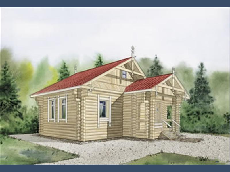 проект одноэтажного дачного дома 7 на 7