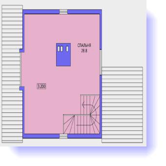 План второго этажа дома для узкого участка
