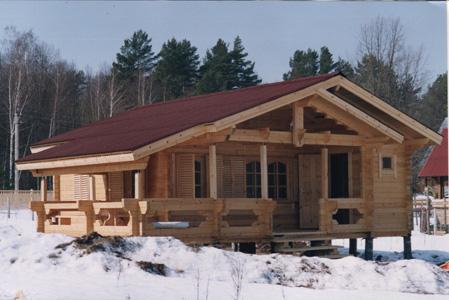 Проект одноэтажного дома 8 на 8 с сауной