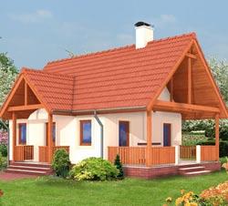 Необычная, но удобная планировка дома 50 кв. м.