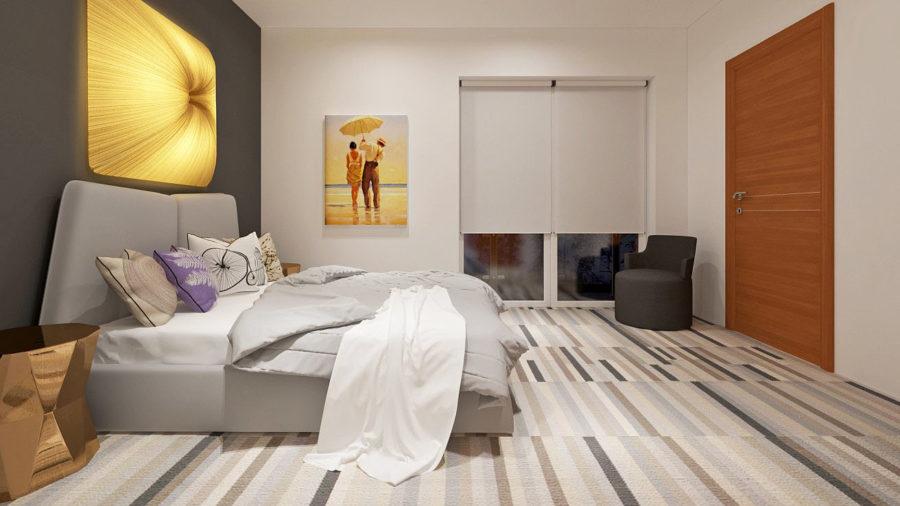 Интерьер спальни на втором этаже
