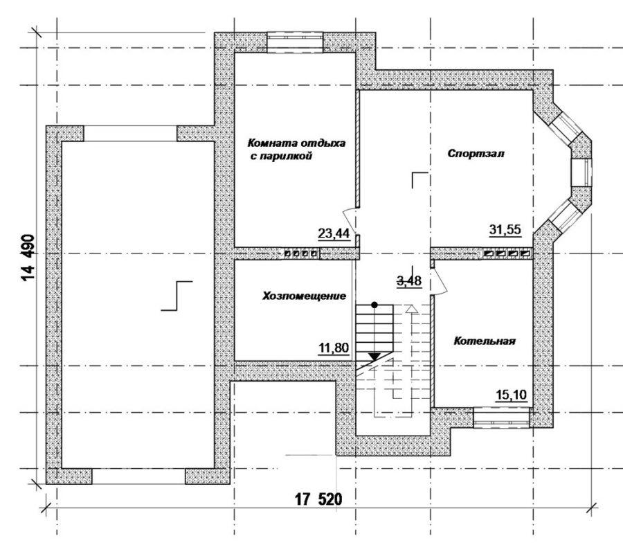 планировка цокольного этажа дома