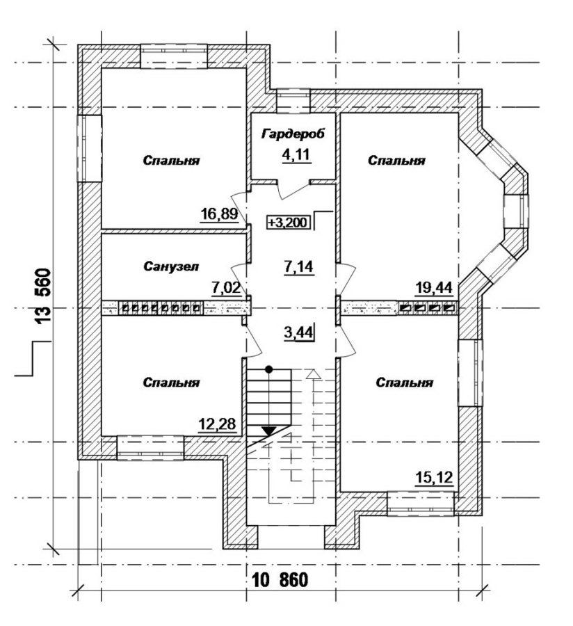 план 2 этажа дома