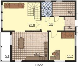 Удобный и функциональный двухэтажный дом 9х11