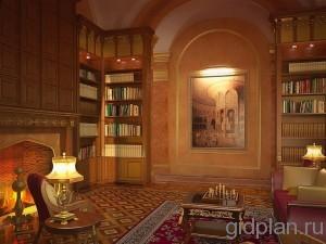 библиотека в частном доме