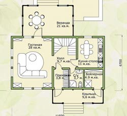 Планировка дома 60 кв.м. – комфортно и экономно