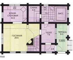 План двухэтажного дома 120 кв. м.