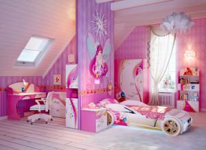 детская в розовом стиле