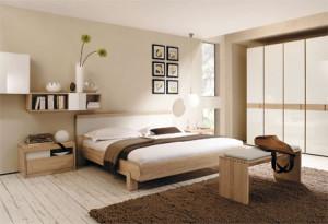 дизайн интерьера спальни 15 кв.м. в пастельных тонах