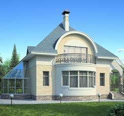 Интересная планировка дома с эркером