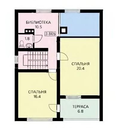План второго этажа современного дома