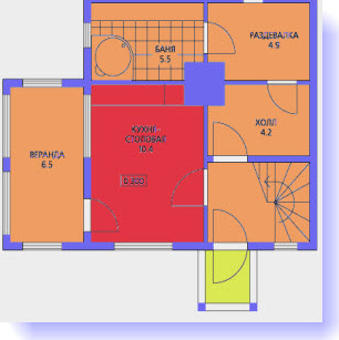 планировка дома 7х7 с баней
