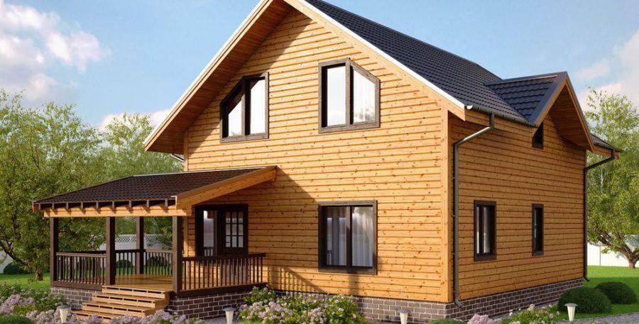 Дом с необычной террасой