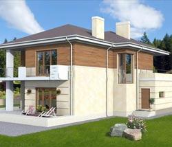 Планировка двухэтажного дома с террасой – особенности и идеи