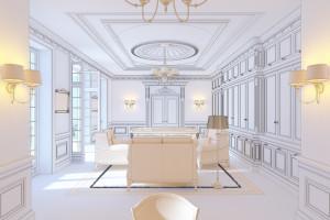 проект гостиной в доме