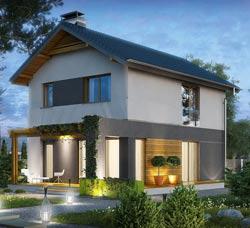Двухэтажный дом 7х9