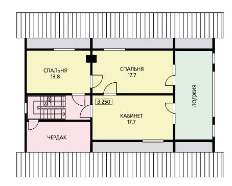 План второго этажа дома для постоянного проживания