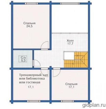 план второго этажа мансарды