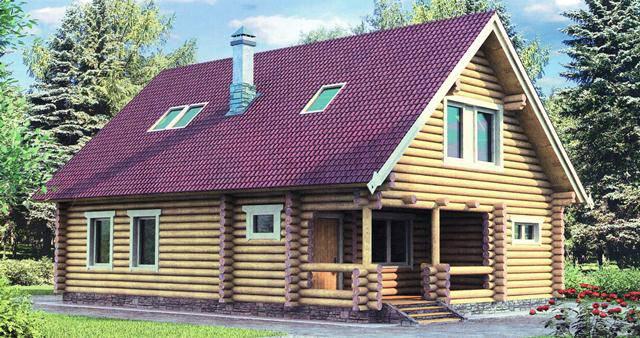 проект двухэтажного деревянного дома 8 на 11