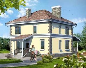 проект двухэтажного кирпичного дома 9х9