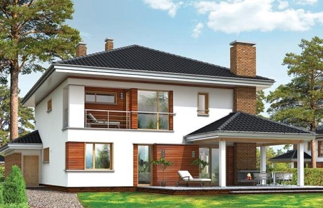 проект кирпичного дома 10 на 10