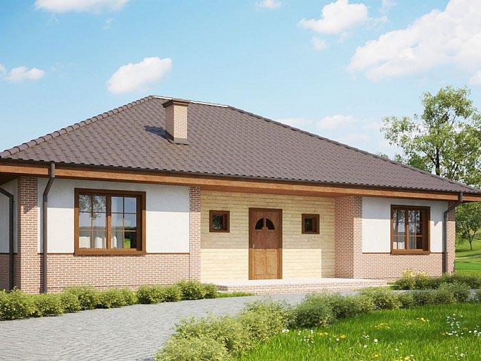 Планировка одноэтажного дома с 3-мя спальнями