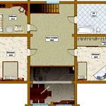 Планировка 2-х этажного дома