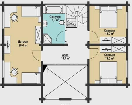 Дом 8 на 10 два этажа планировка с размерами