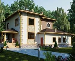 Планировка большого двухэтажного частного дома