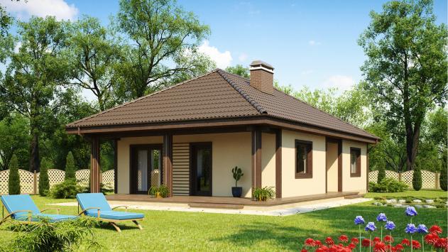 проект одноэтажного дома 11 на 12