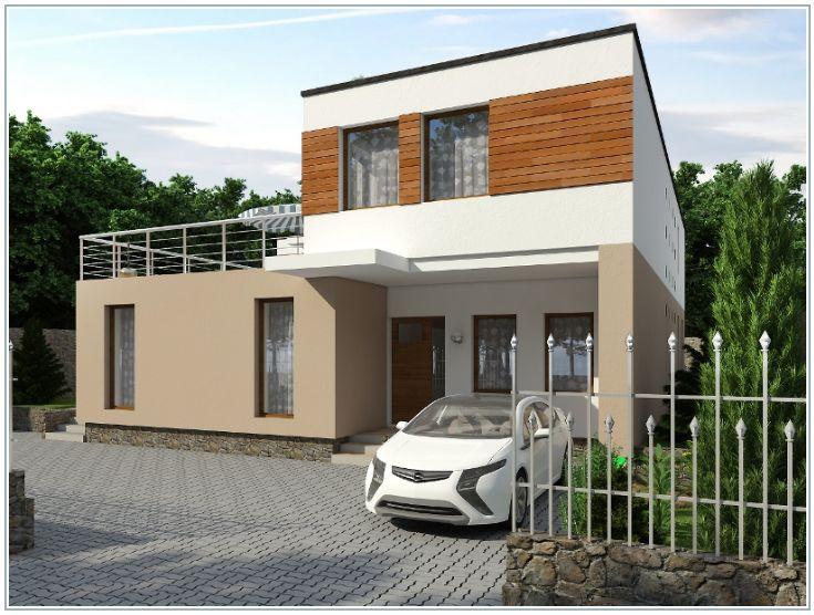 Двухэтажный дом с внутренним двором