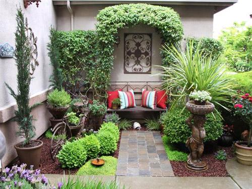 внутренний дворик в частном доме