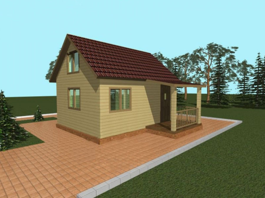 дачный дом 4 на 5
