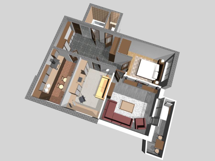 размещение мебели в доме