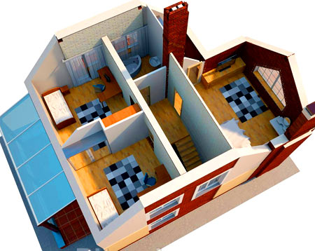 план дома в 3d