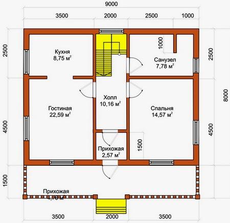планировка садового дома