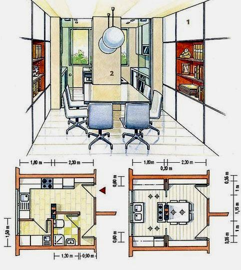 оформление и планировка  кухни