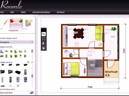 интерфейс программы Roomle
