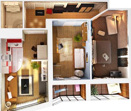 3D план квартиры