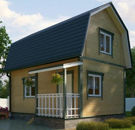каркасный дом 4x6