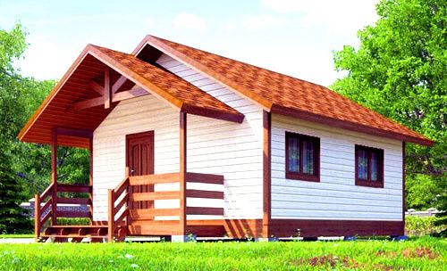каркасный дом 6х6
