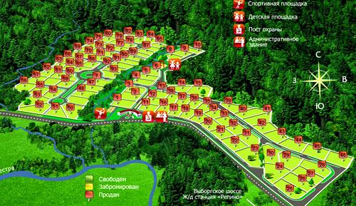 визуальный план поселка
