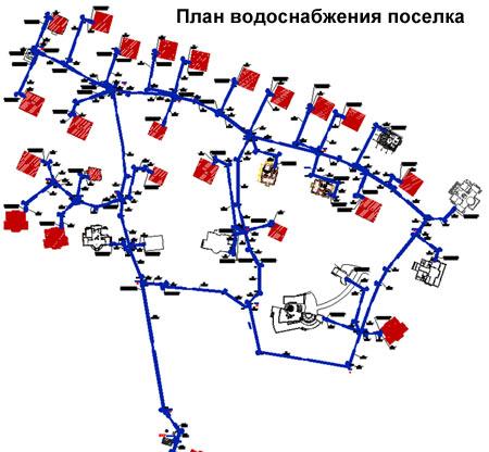 план водоснабжения поселка