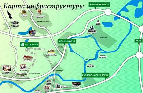 карта инфраструктуры поселка