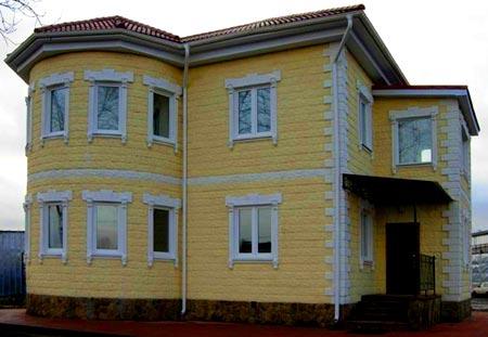 двухэтажный дом из теплоблока
