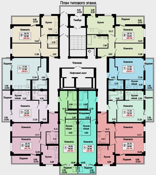 поэтажный план здания